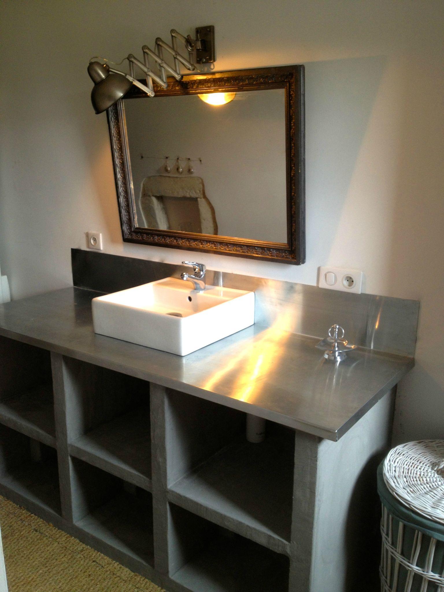 Plan de travail salle de bain en siporex - pearlfection.fr