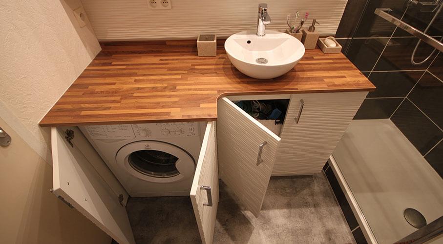 Meuble vasque avec plan de travail - pearlfection.fr