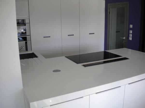 Plan De Travail Quartz Blanc Pur Pearlfection Fr