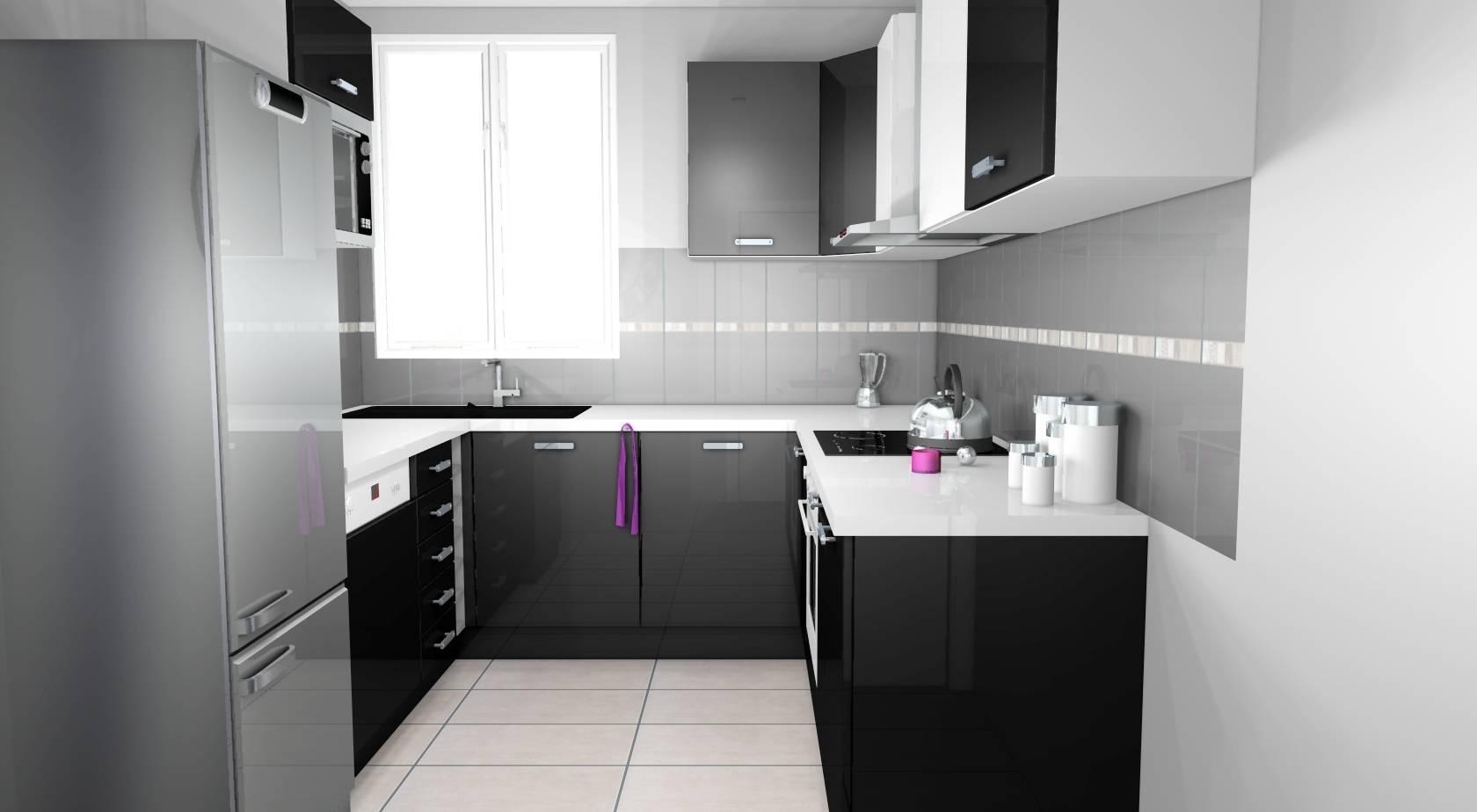 Cuisine Noir Et Blanc Mat cuisine noire et blanche