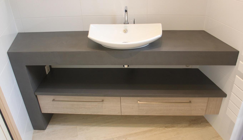 Plan de travail salle de bain avec retour - pearlfection.fr