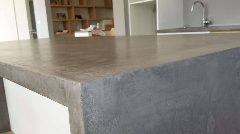 Plan de travail beton cire castorama