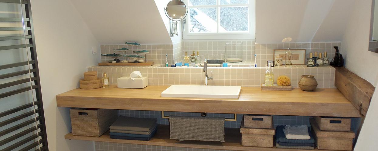 Creer un plan de travail pour salle de bain - pearlfection.fr
