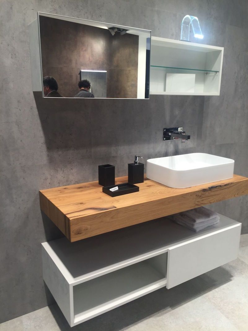 Plan de travail bambou salle de bain - pearlfection.fr