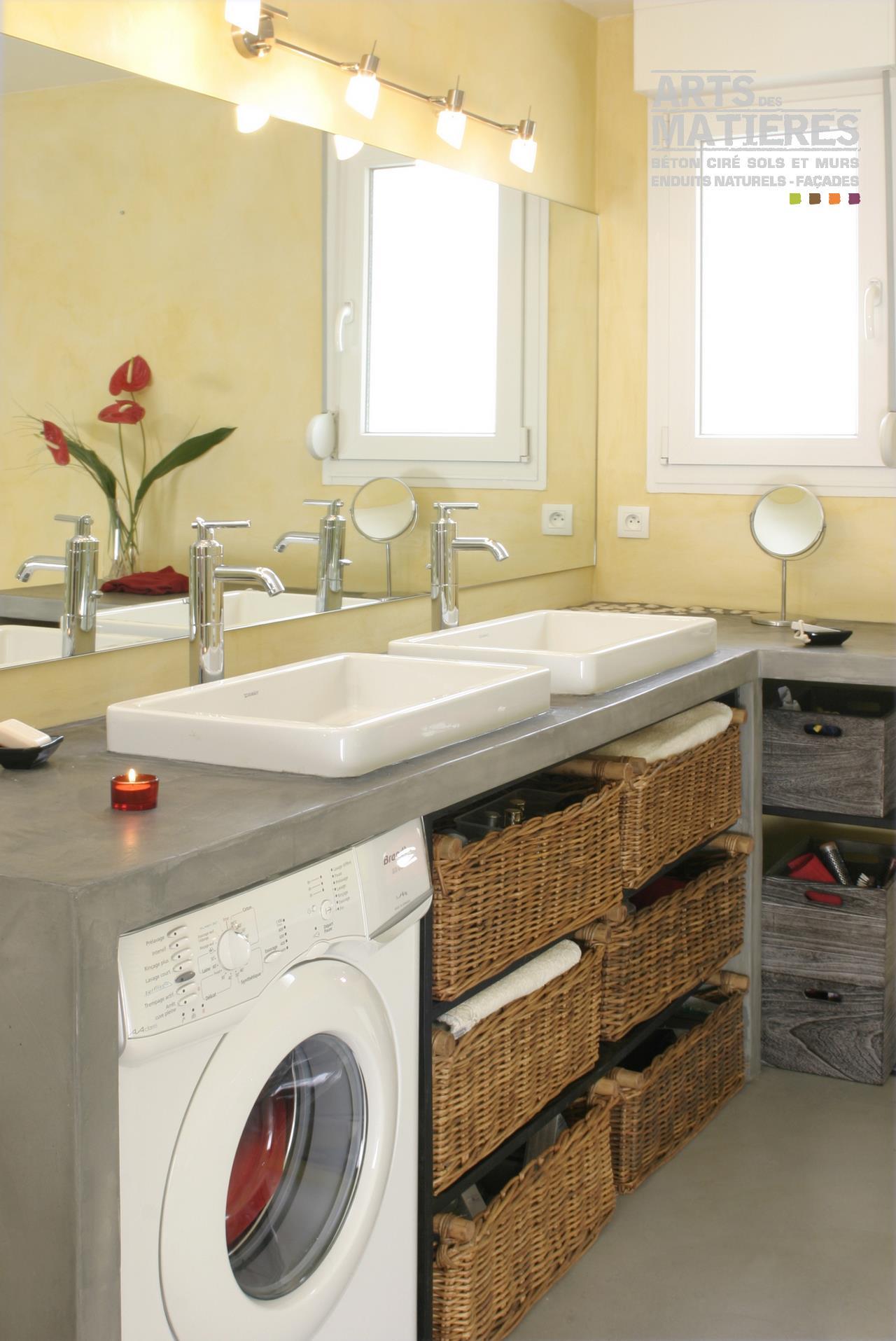 Plan de travail salle de bain en bambou - pearlfection.fr