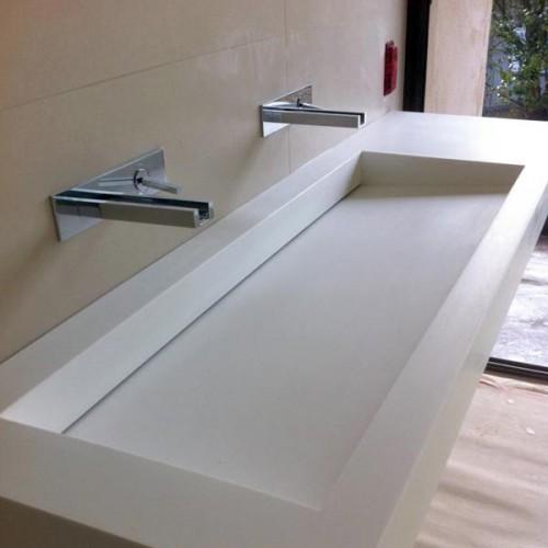 Remarquable Plan de travail salle de bain en resine - pearlfection.fr MW-36