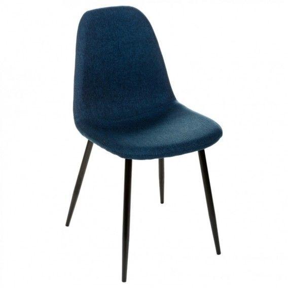 Chaise scandinave bleu marine
