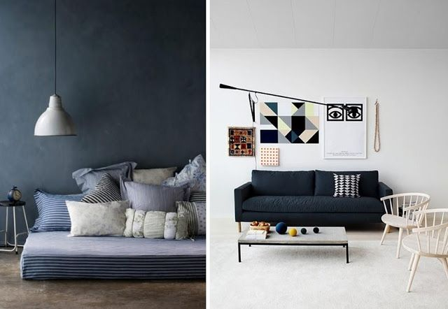 Idee deco salon scandinave bleu - pearlfection.fr