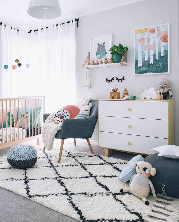 Chambre bebe deco scandinave   pearlfection.fr