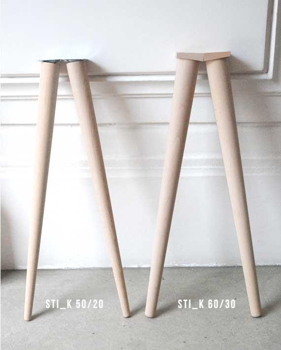 Pied de meuble scandinave en bois