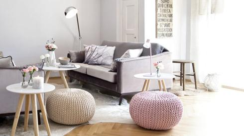 Salon scandinave pastel - pearlfection.fr
