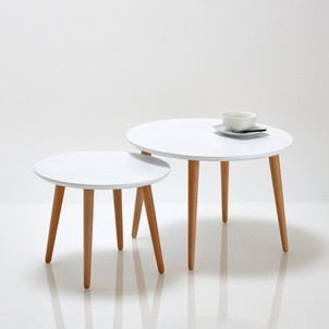 Table Basse Gigogne Ronde Scandinave Pearlfectionfr