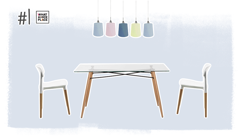 Table Verre Avec Chaise Scandinave Pearlfection Fr