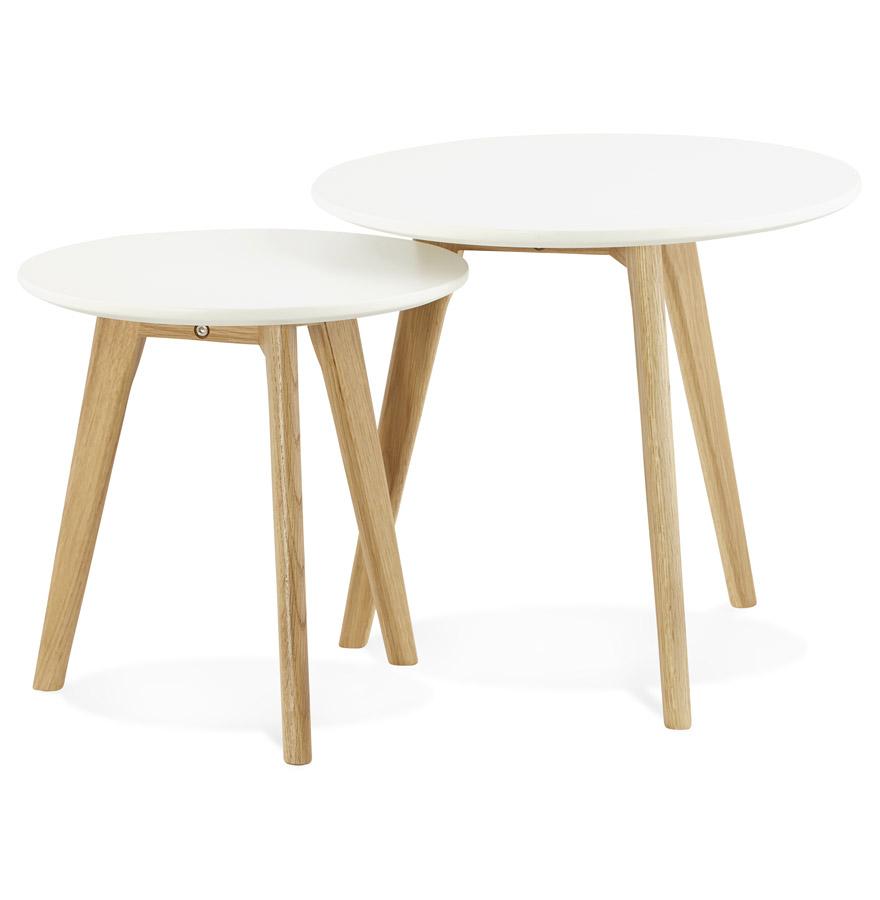 Table Basse Gigogne Scandinave Bois Pearlfectionfr