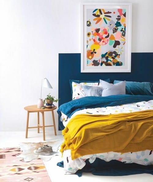Déco chambre scandinave jaune - pearlfection.fr