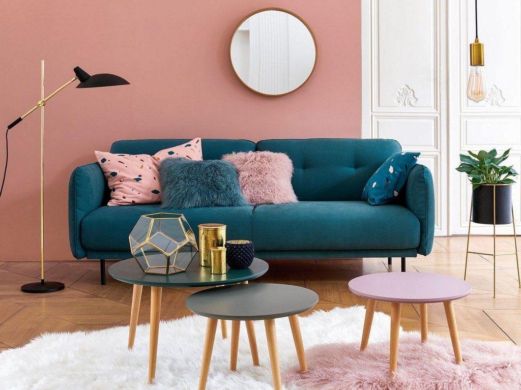 Decoration Salon Bleu Vert