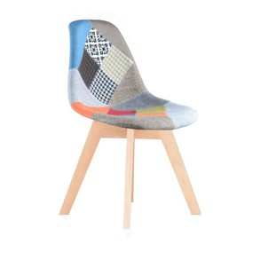 Chaise scandinave patchwork floro