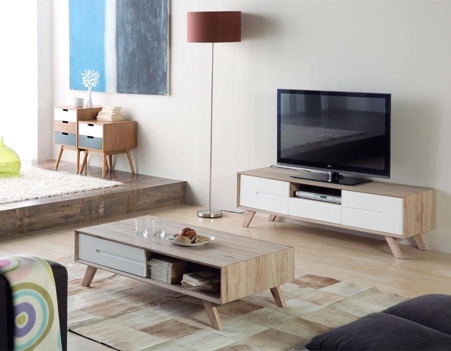 Meuble Tv Et Table Basse Scandinave Pearlfection Fr