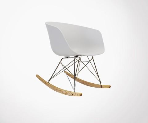 Chaise scandinave à bascule
