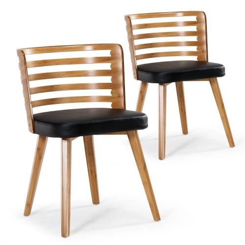 Chaise Noir Et Bois Scandinave
