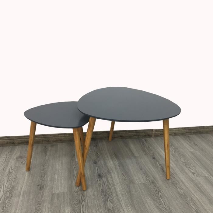 Table Basse Style Scandinave Gigogne Pearlfection Fr