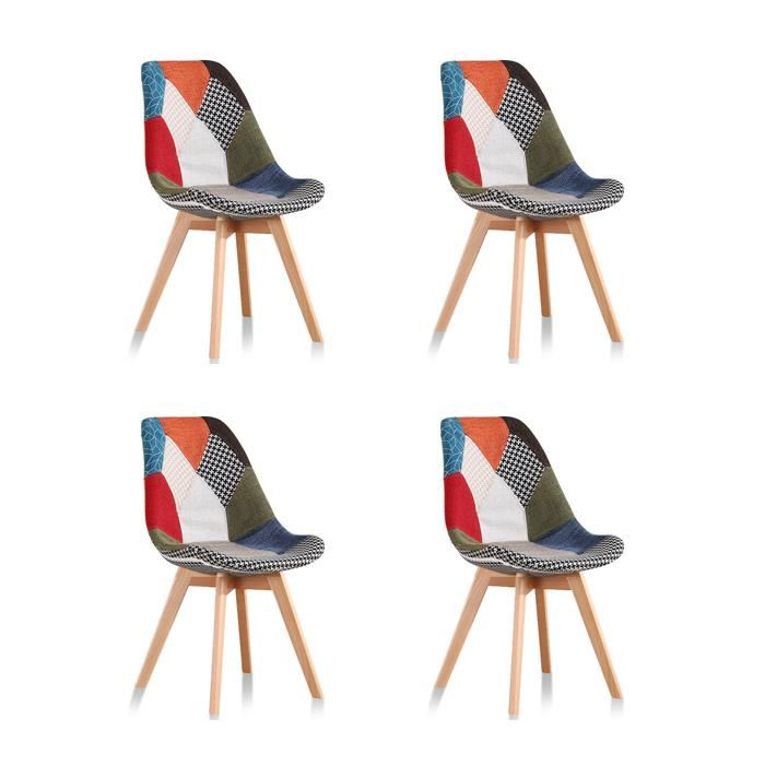 4 Chaise Scandinave Cdiscount Pearlfection Fr