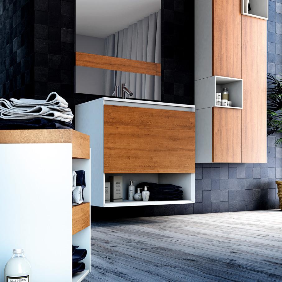 Meuble salle de bain bois scandinave - pearlfection.fr