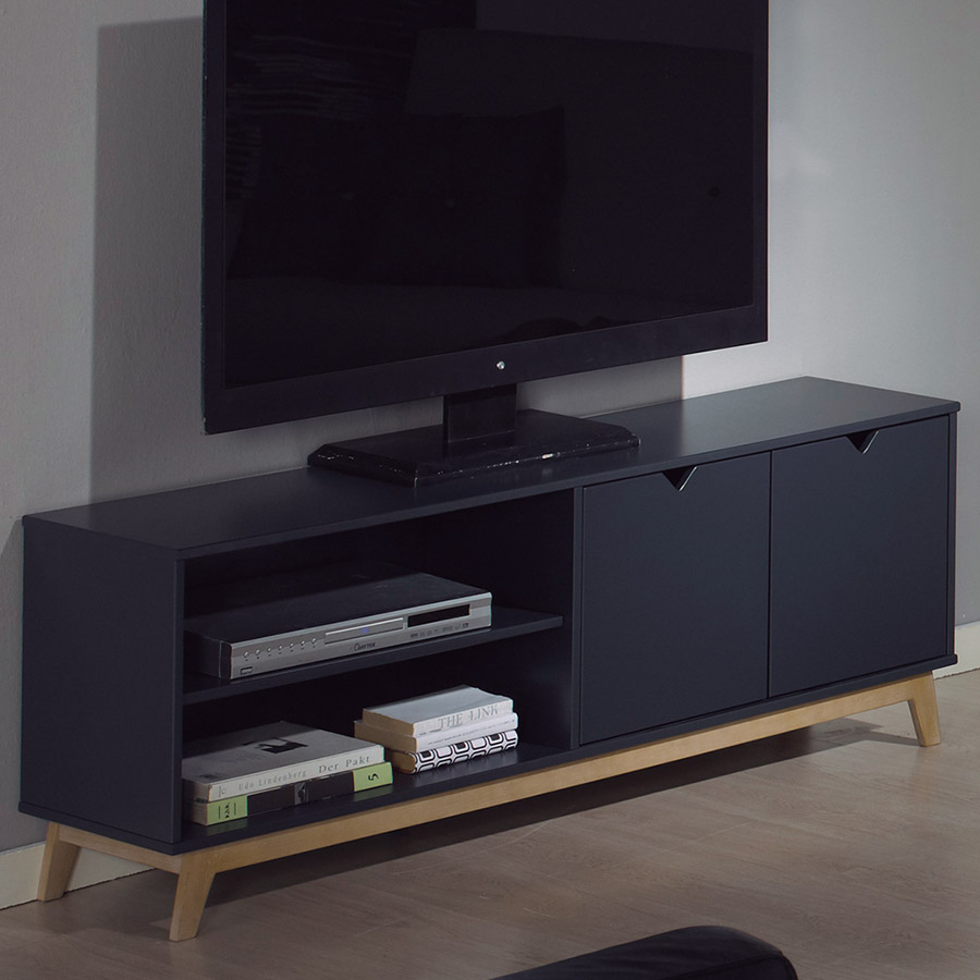 Meuble tv gris scandinave