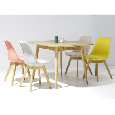 Table Salle A Manger Scandinave Extensible Pearlfection Fr