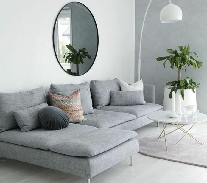 Salon style scandinave gris - pearlfection.fr