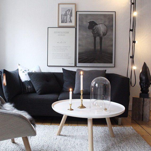 Deco scandinave noir et bois