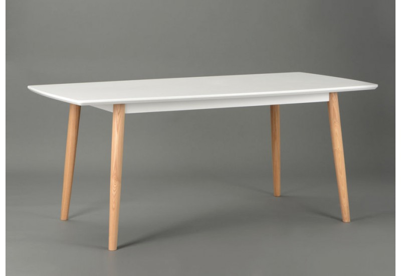 Table Scandinave Ovale Blanche Pearlfection Fr