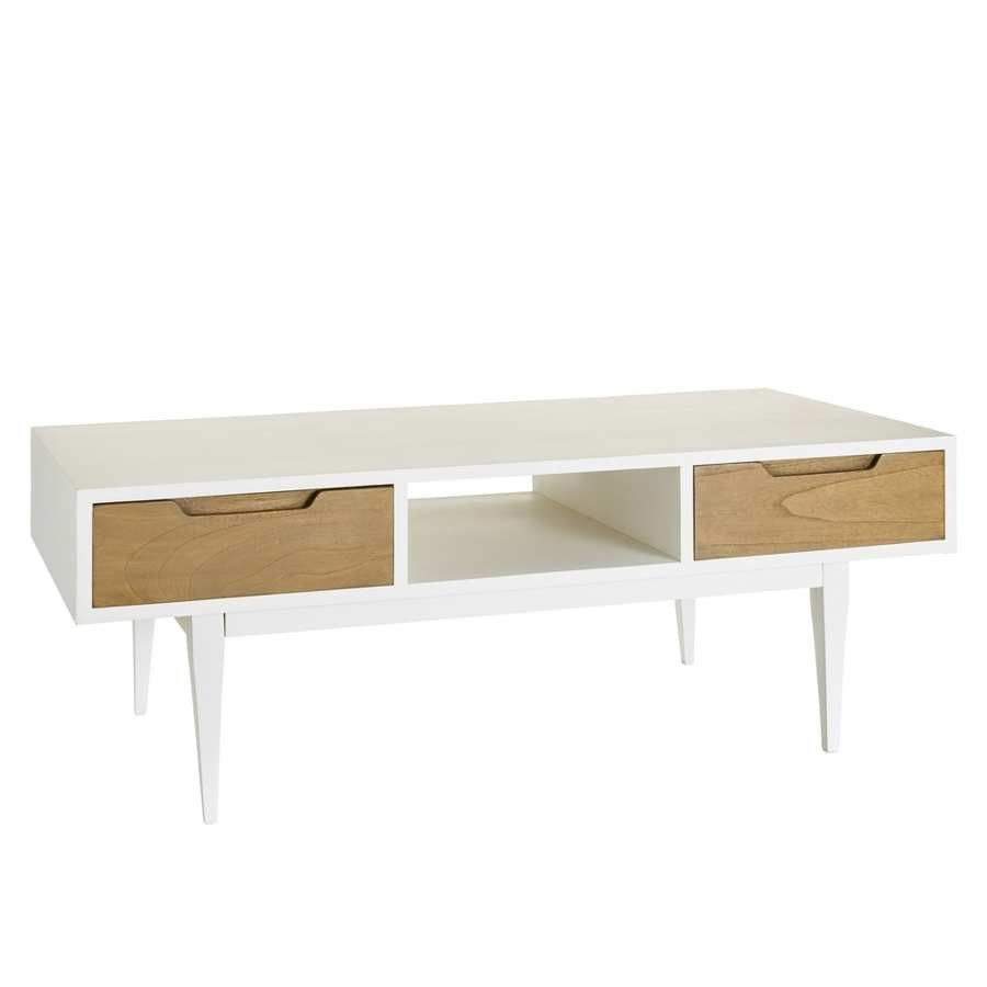 Table Basse Scandinave Tiroirs Pearlfection Fr
