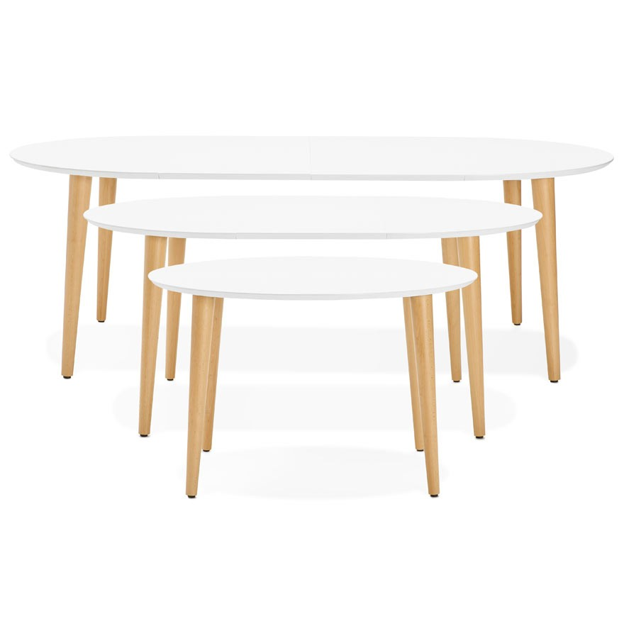 Table Ronde Scandinave Extensible.Table Scandinave Extensible 10 Personnes Pearlfection Fr