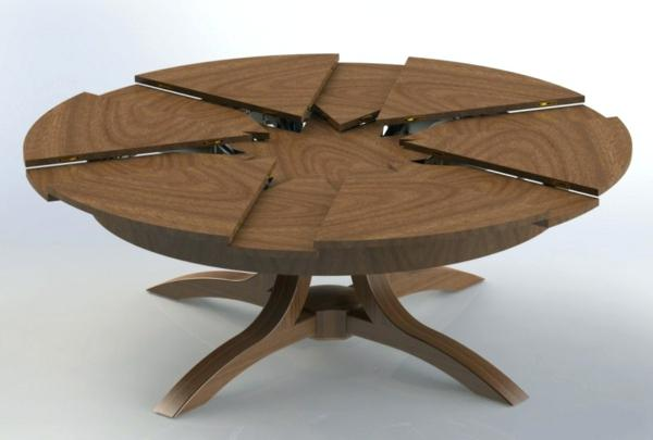 Table ronde extensible design scandinave - pearlfection.fr