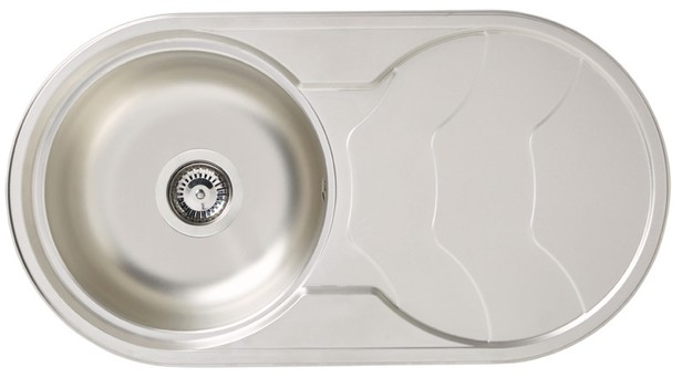 Evier Inox Rond 1 Bac Pearlfection Fr