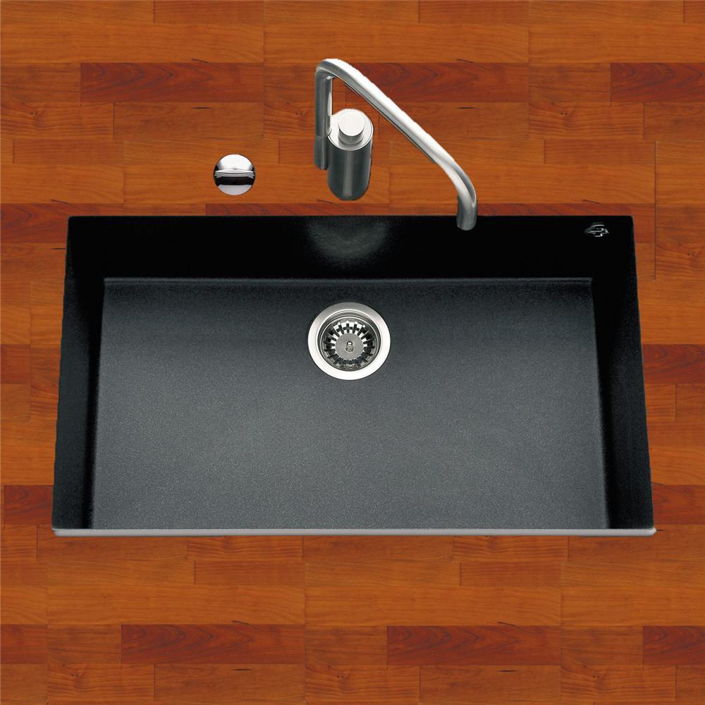 Evier cuisine noir 60 cm