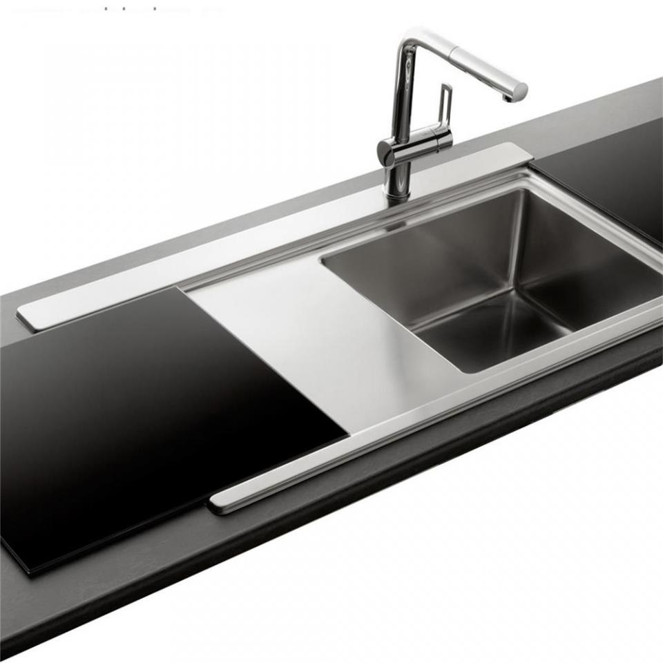 Evier Cuisine Double Bac Inox Pearlfection Fr