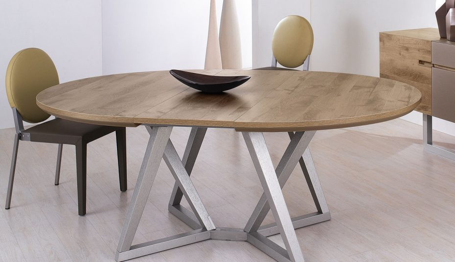 Table ronde extensible bois scandinave - pearlfection.fr