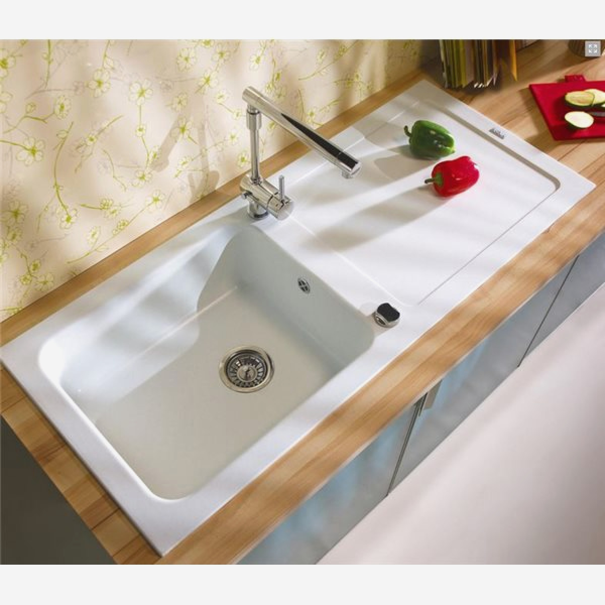 Beautiful Evier Cuisine Blanc Resine Photos - House Design ...