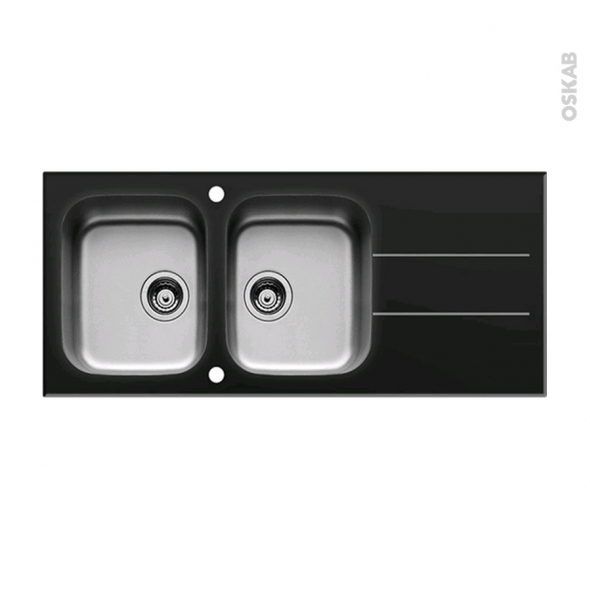 Evier Inox Deux Bacs Design Pearlfection Fr