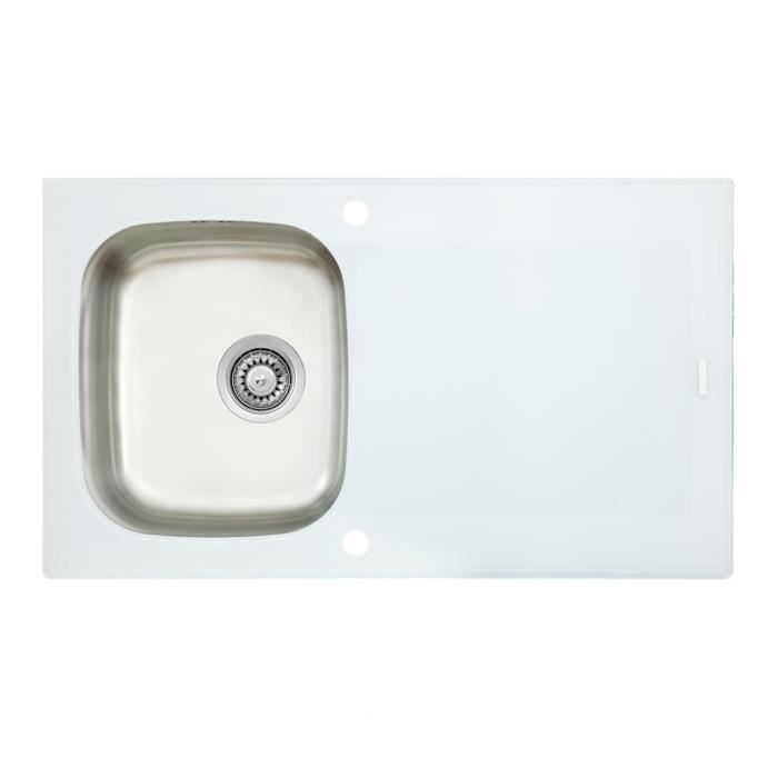 Evier Cuisine Inox Et Verre.Evier Inox Blanc Pearlfection Fr