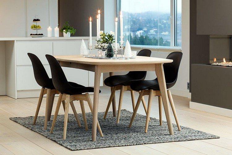 Et Table Xzopkui Bois Noire Scandinave CoxBerdW